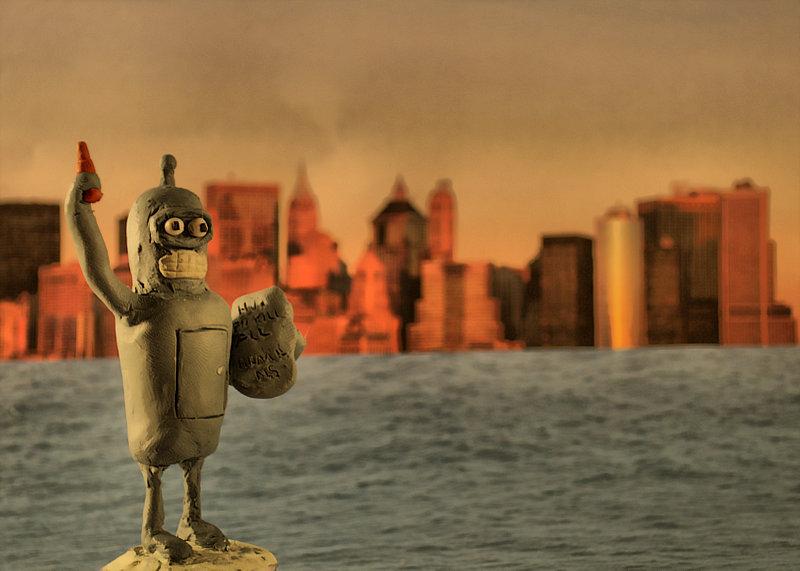 Bender aus Knete. Bender clay figure.