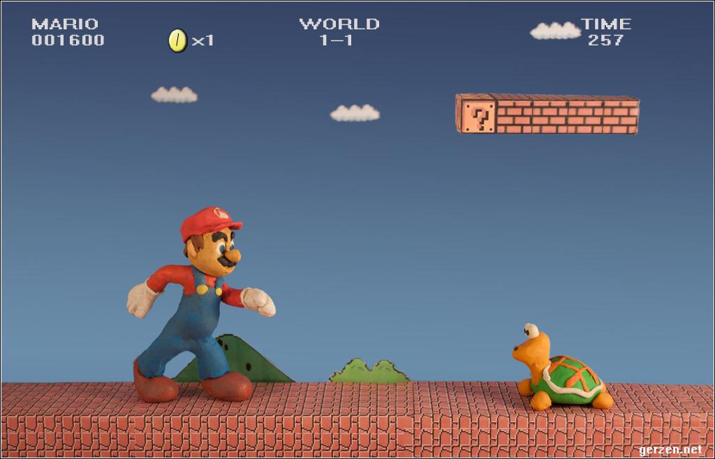 Super Mario Knetefigur. Play with Clay, Mario!