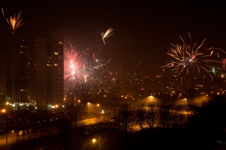 Feuerwerk in Berlin Silvester 2012