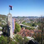 Ruins of castle Stein in Baden, Switzerland, Aargau