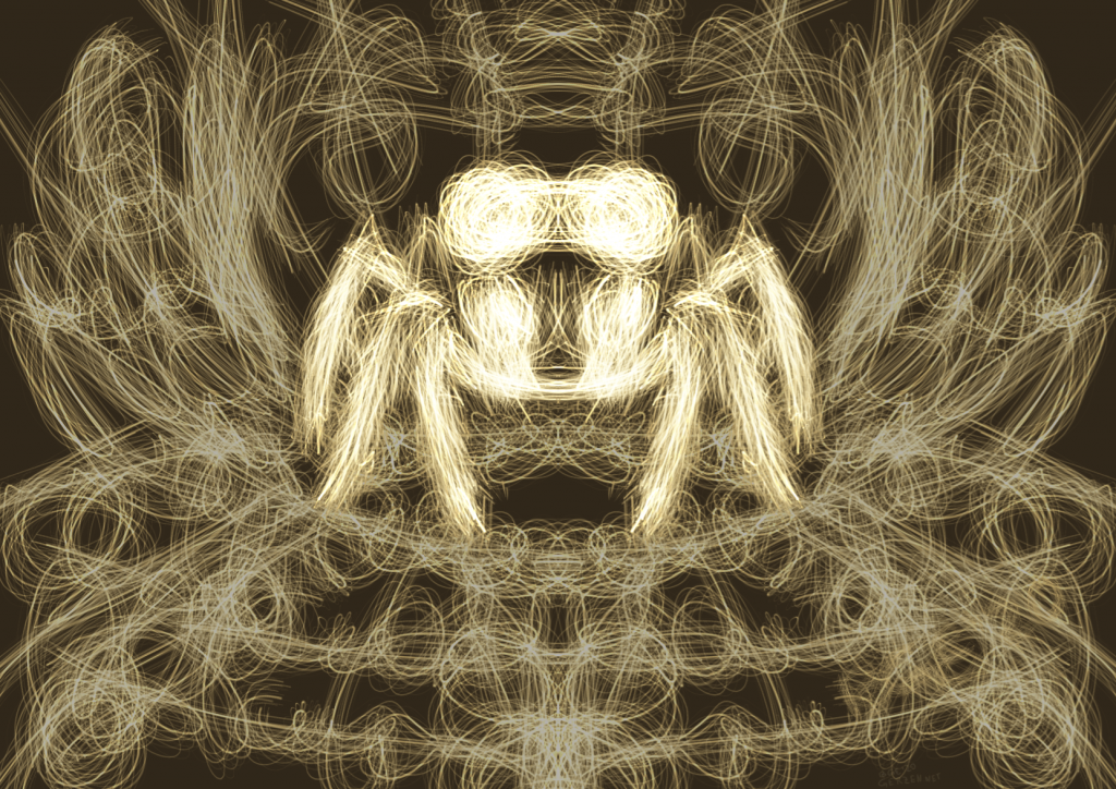 Glowing Spider, Drawing