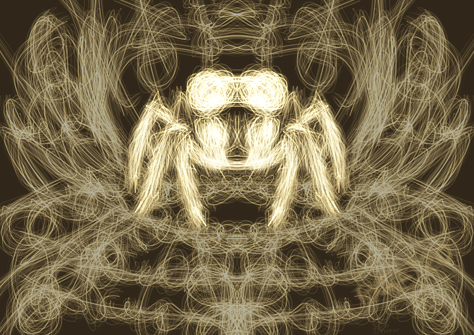 Светящийся паук